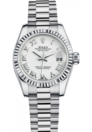 LADY-DATEJUST Oyster white gold , M179179-0149 26 mm