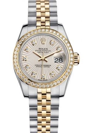 LADY-DATEJUST Oyster steel, yellow gold and diamonds , M179383-0011 26 mm
