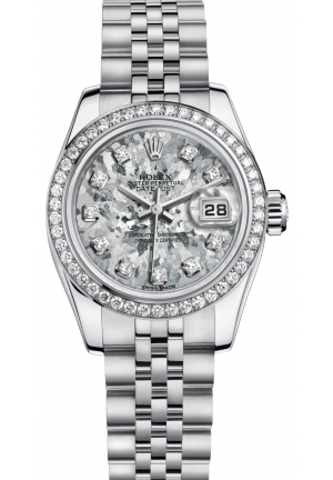 LADY-DATEJUST Oyster, 26 mm, steel, white gold and diamonds  M179384-0010