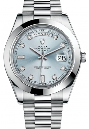 DAY-DATE IIOyster platinum , M218206-0009 41 mm