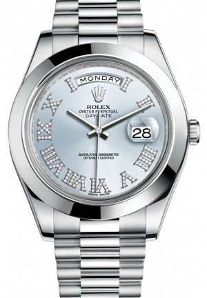 DAY-DATE IIOyster platinum , M218206-0052 41 mm