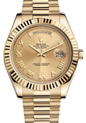 DAY-DATE IIOyster yellow gold , M218238-0038 41 mm