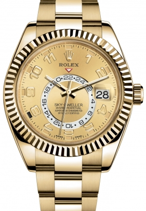 SKY-DWELLER Oyster yellow gold , M326938-0002 42 mm