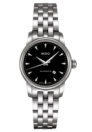 Mido Baroncelli Jubilee Automatic Black Dial Stainless Steel Ladies Watch M76004181 29mm