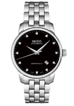 Mido Baroncelli Automatic Black Dial Stainless Steel Ladies Watch M7600.4.68.1 29mm