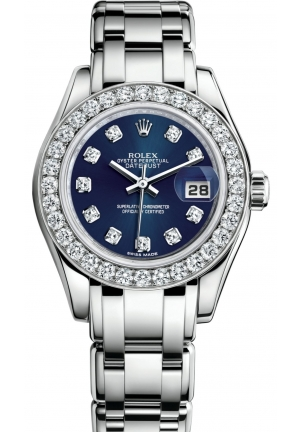 LADY-DATEJUST PEARLMASTER Oyster white gold and diamonds , M80299-0029 29 mm