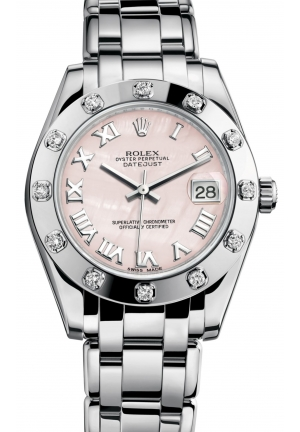 DATEJUST SPECIAL EDITION Oyster white gold and diamonds , M81319-0018 34 mm