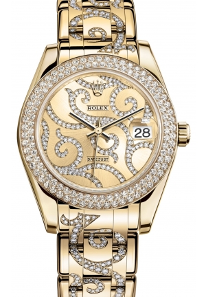 DATEJUST SPECIAL EDITION Oyster yellow gold and diamonds , M81338-0092 34 mm