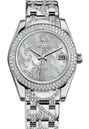 DATEJUST SPECIAL EDITION Oyster white gold and diamonds , M81339-0028 34 mm