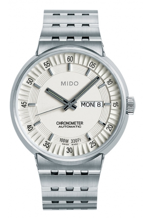 Mido All Dial Chronometer Automatic White Dial Stainless Steel Mens Watch M83404B111 42mm