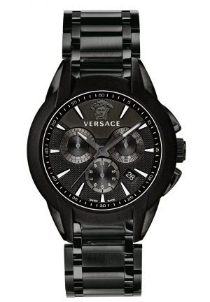 VERSACE Swiss Chronograph Character Black PVD 52x43mm