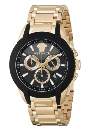 "VERSACE ""Character"" Rose Gold Ion-Plated Watch 43mm"