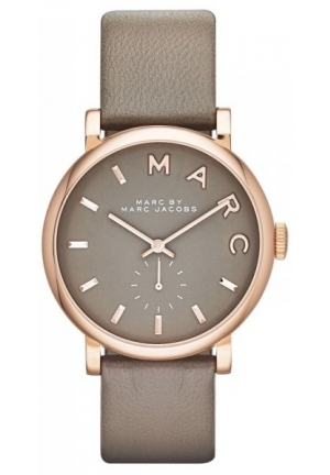 MARC BY MARC JACOBS Baker Rose Tone Grey Leather Watch 36.50mm MBM1266