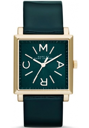 Marc Jacobs Stainless Steel Case Green Leather Women's Watch MBM1278