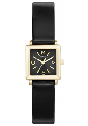 KATHERINE BLACK LEATHER WATCH 19 MM MBM1313
