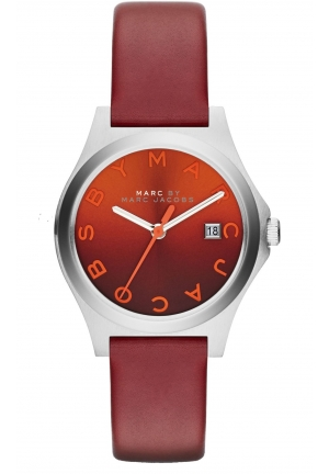 The Slim Mini Red Leather Watch 30mm MBM1322