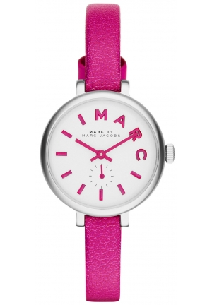 Sally Fuchsia Leather Strap Watch 28mm MBM1353