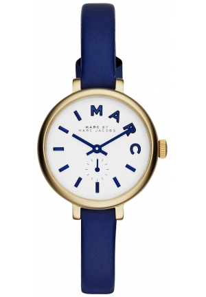 Sally Blue Leather Strap Wath 28mm MBM1354