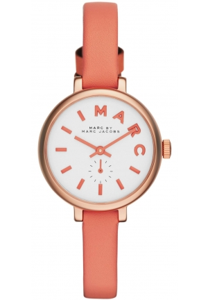 Ladies Sally Peach Leather Strap Watch 28mm MBM1355