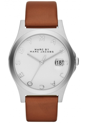 Women's Henry Slim Tan Leather Strap Watch 36mm MBM1356