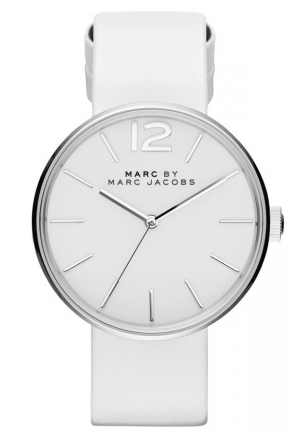 MARC JACOBS Peggy White Leather Watch 36mm MBM1361