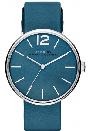 Marc by Marc Jacobs Women's Peggy Blue Leather Strap Watch 36mm MBM1364