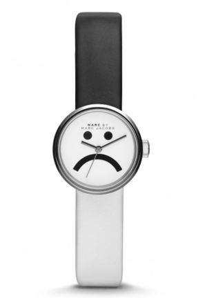 MARC JACOBS Women's Peggy Black and White Leather Strap Watch 26mm MBM1372