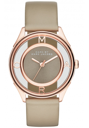 MARC JACOBS Tether Three Hand Leather Watch - Grey 36mm