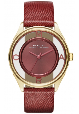 MARC JACOBS Tether Three Hand Leather Watch - Purple 36mm