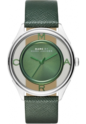 MARC JACOBS Tether Three Hand Leather Watch - Green 36mm