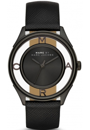 MARC JACOBS Tether Three Hand Leather Watch - Black 36mm