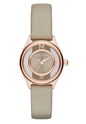 MARC JACOBS Tether Three Hand Leather Watch - Grey 25mm