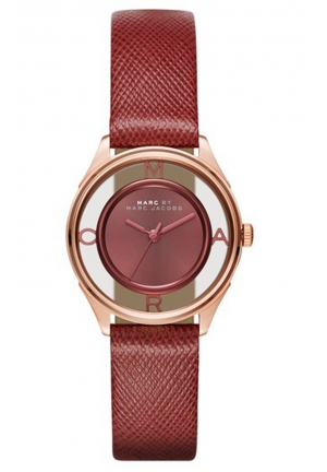 MARC JACOBS Tether Three Hand Leather Watch - Purple 25mm