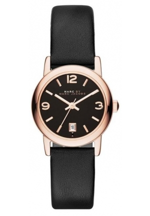 LEATHER FARROW VINTAGE ROUND BLACK STRAP 26MM MBM1404