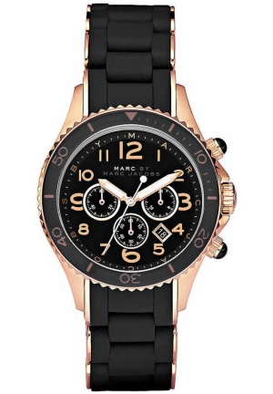 MARC JACOBS Unisex Rock Black Watch 40mm