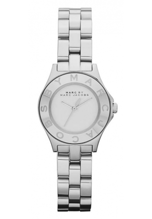 MARC JACOBS Women's Blade Mini Silver Dial Stainless Steel Bracelet Watch 26MM