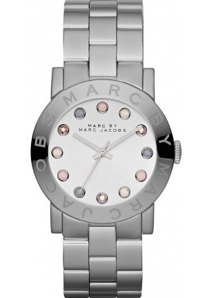 Marc By Marc Jacobs Women's Amy Silver Stainless-Steel Quartz Watch 36mm