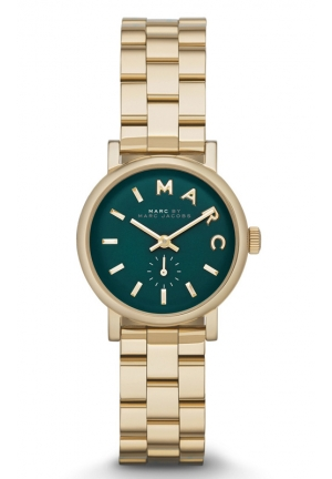 MARC JACOBS Baker Dark Green Dial Gold Tone Stainless Steel 28mm MBM3249