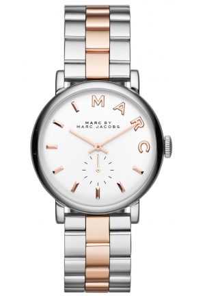 MARC JACOBS Baker Mini Two Tone Watch 28mm MBM3331
