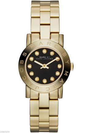 Amy Mini Gold Tone Steel Black Dial 26mm