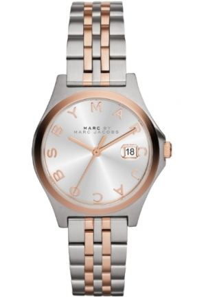 Marc by Marc Jacobs Women's MBM3353 Slim Two-Tone Stainless Steel Watch with Link Bracelet MBM3353