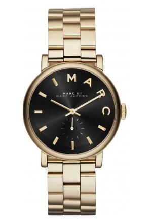 Baker Black Dial Gold-tone Steel Ladies Watch