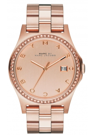 MARC BY MARC JACOBS Henry Crystal Rose Dial Rose Gold mbm3357