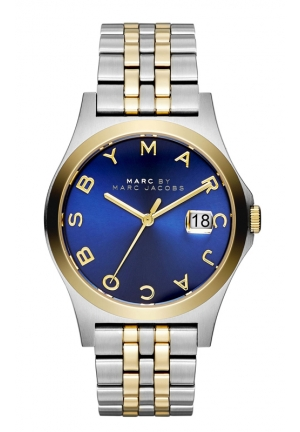 MARC JACOBS The Slim Round Two-tone Bracelet Watch 36mm mbm3359