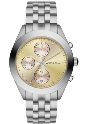 Women's Chronograph Peeker Stainless Steel Bracelet Watch 36mm MBM3370