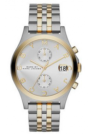 MARC JACOBS Women's Slim Chrono Two-Tone Stainless Steel Bracelet Watch 38mm MBM3381