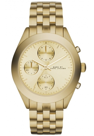 Women's Chronograph Peeker Gold-Tone Stainless Steel Bracelet Watch 36mm MBM3393