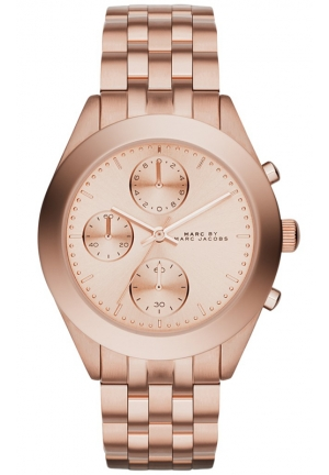 Women's Chronograph Peeker Rose Gold-Tone Stainless Steel Bracelet Watch 36mm MBM3394