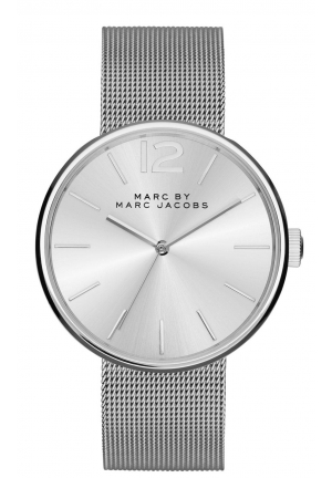 MARC JACOBS Peggy Silver-Tone Sunray Dial Ladies Watch 36mm MBM3403