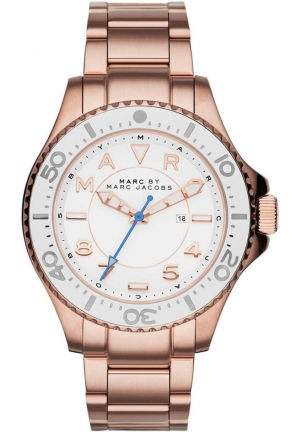 Dizz Sport White Dial Rose Gold-tone Ladies Watch